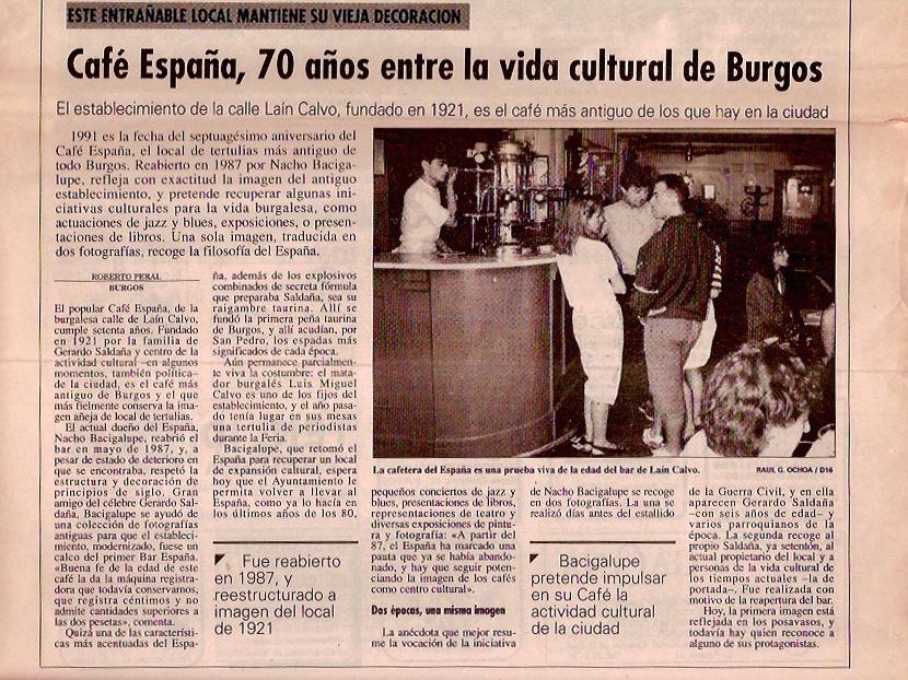 Diario16 Burgos, 1991. 70 años entre la cultura de Burgos.