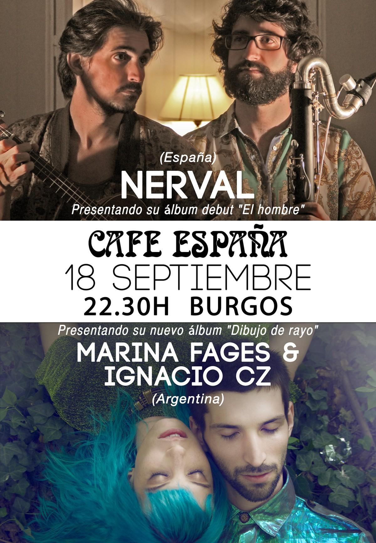 CONCIERTO: NERVAL + MARINA FAGES & Ignacio CZ